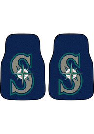 Sports Licensing Solutions Seattle Mariners 2-Piece Carpet Car Mat - Black
