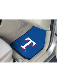 Sports Licensing Solutions Texas Rangers 2-Piece Carpet Car Mat - Blue