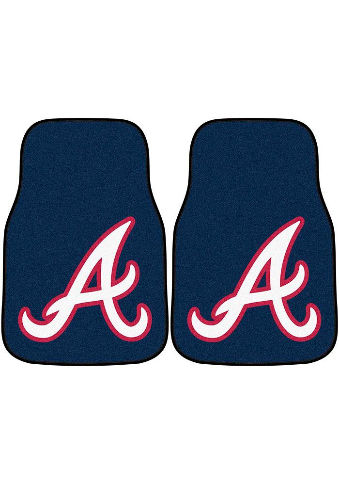 Atlanta Braves 2-Piece Carpet Car Mat - Image 1