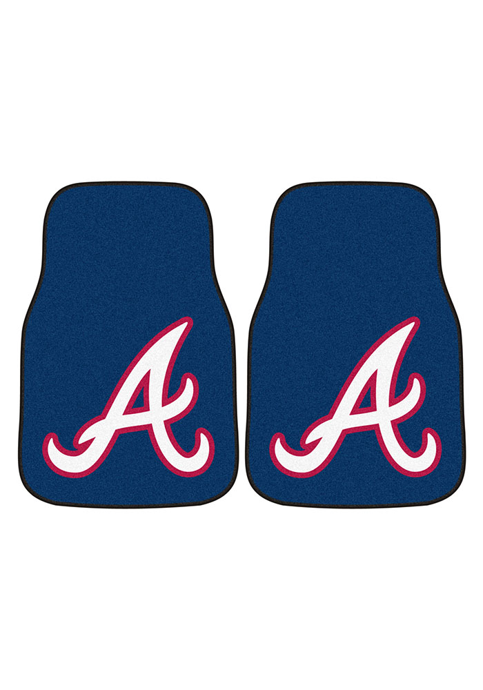 Atlanta Braves 2-Piece Carpet Car Mat - Image 2