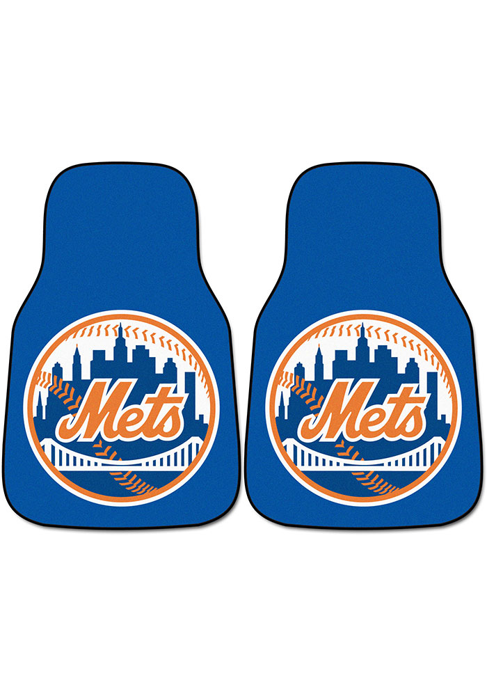 Sports Licensing Solutions New York Mets 2-Piece Carpet Car Mat - Blue - Image 1