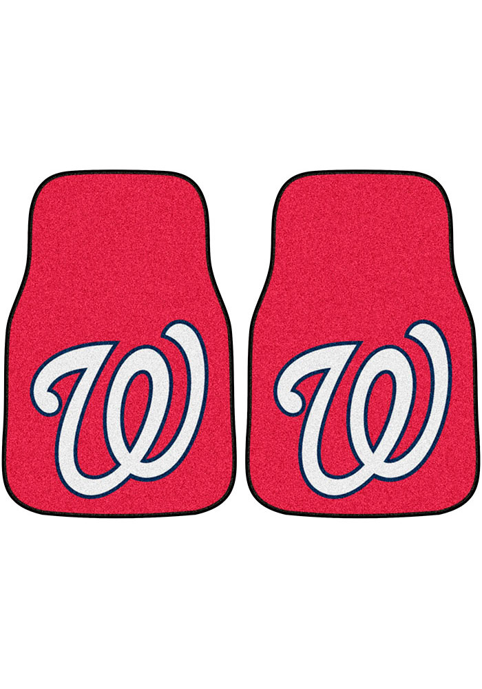 Sports Licensing Solutions Washington Nationals 2-Piece Carpet Car Mat - Red - Image 1