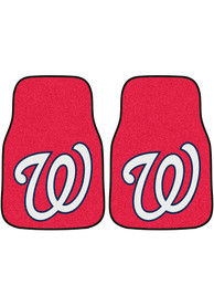 Sports Licensing Solutions Washington Nationals 2-Piece Carpet Car Mat - Red