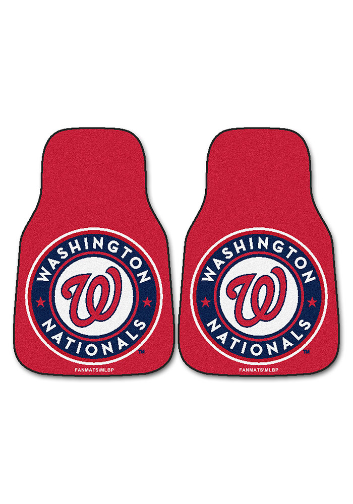 Sports Licensing Solutions Washington Nationals 2-Piece Carpet Car Mat - Red - Image 2