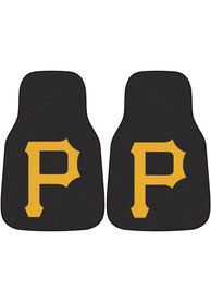 Sports Licensing Solutions Pittsburgh Pirates 2-Piece Carpet Car Mat - Black