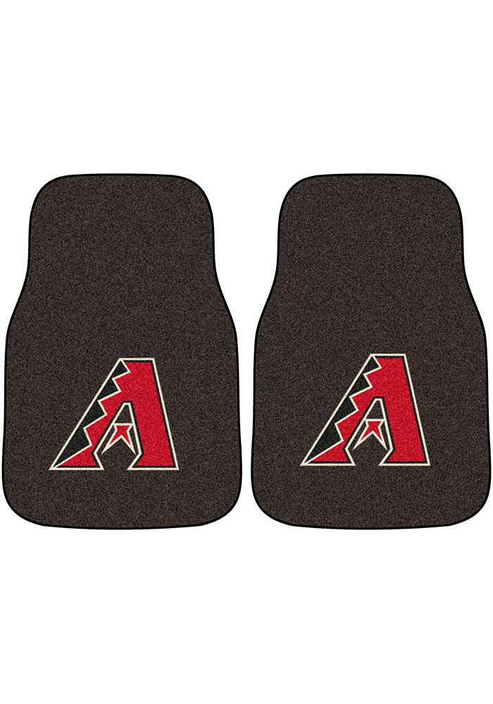 Sports Licensing Solutions Arizona Diamondbacks 2-Piece Carpet Car Mat - Black - Image 1