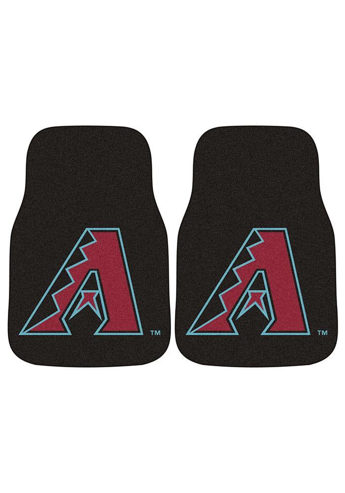 Sports Licensing Solutions Arizona Diamondbacks 2-Piece Carpet Car Mat - Black - Image 2