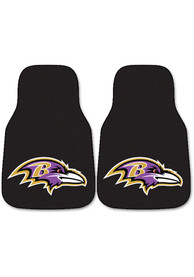 Sports Licensing Solutions Baltimore Ravens 2-Piece Carpet Car Mat - Black