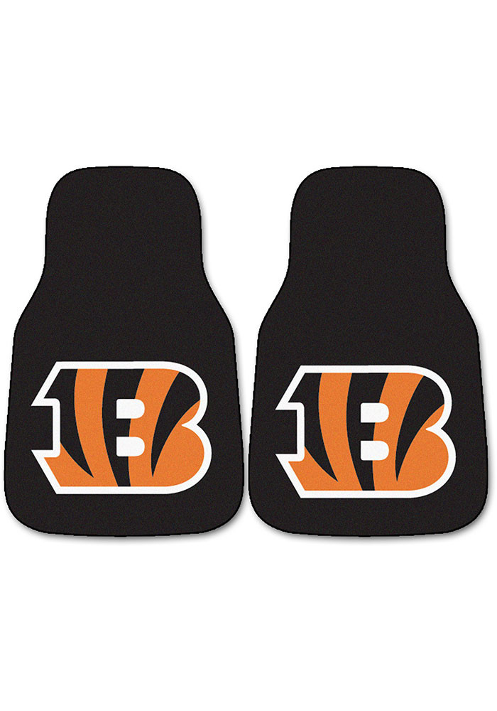 Cincinnati Bengals 2-Piece Carpet Car Mat - Image 1