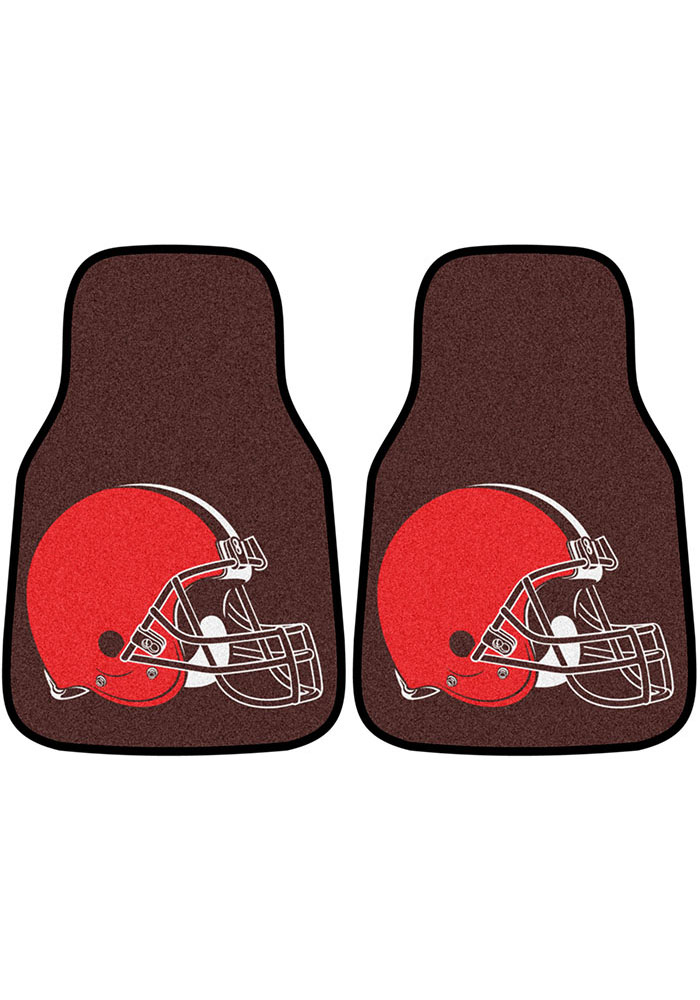 Sports Licensing Solutions Cleveland Browns 2-Piece Carpet Car Mat - Brown - Image 1