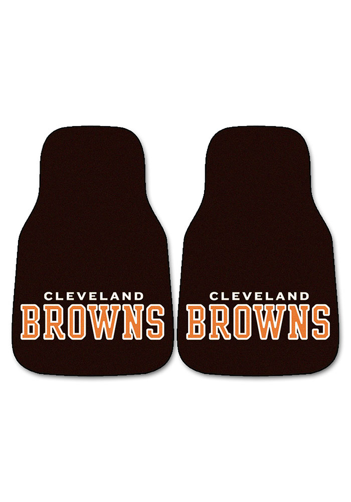 Sports Licensing Solutions Cleveland Browns 2-Piece Carpet Car Mat - Brown - Image 2