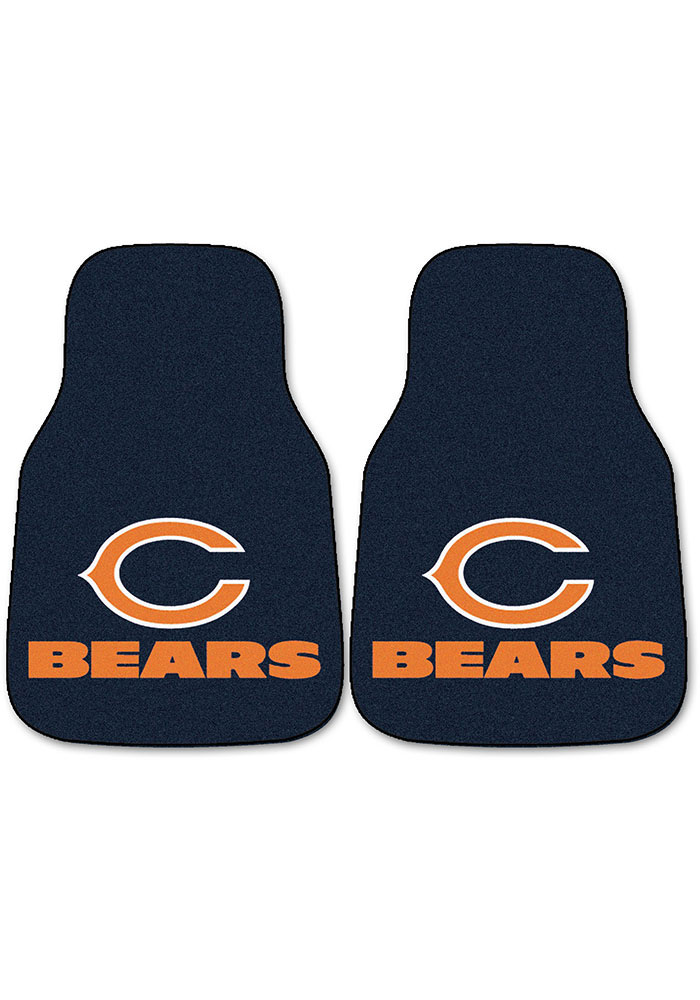 Sports Licensing Solutions Chicago Bears 2-Piece Carpet Car Mat - Navy Blue - Image 1