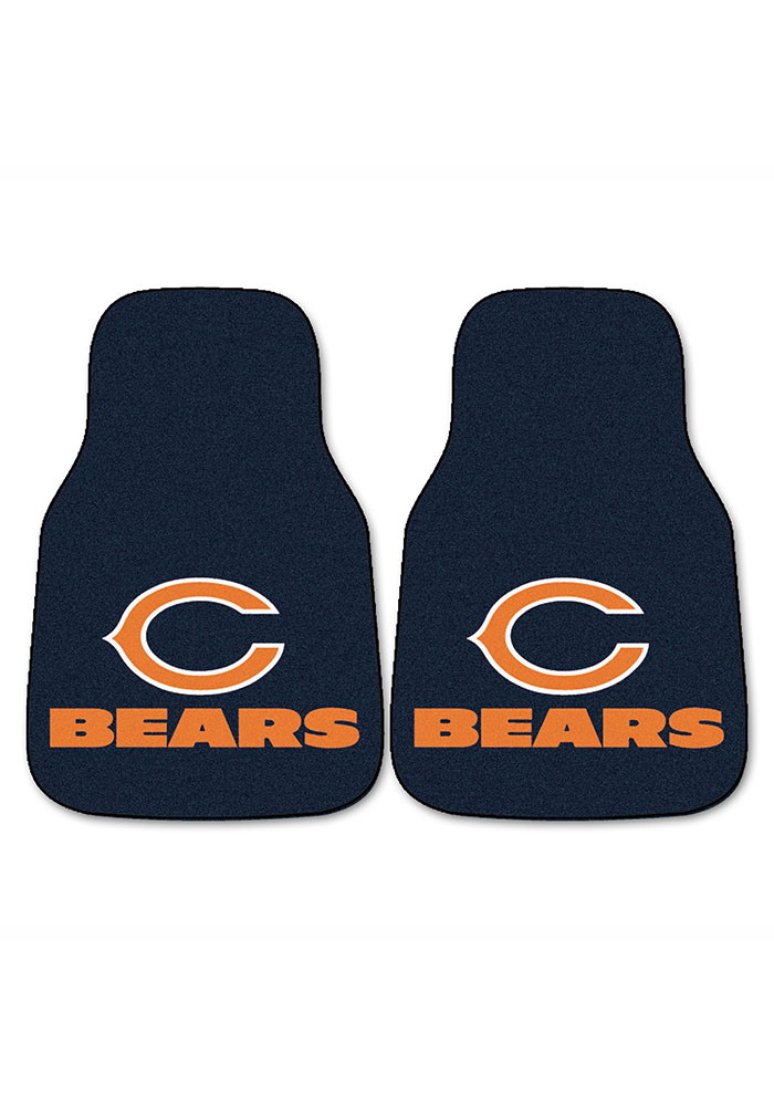 Sports Licensing Solutions Chicago Bears 2-Piece Carpet Car Mat - Navy Blue - Image 2
