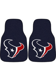 Sports Licensing Solutions Houston Texans 2-Piece Carpet Car Mat - Navy Blue