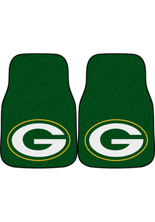 Green Bay Packers 2-Piece Carpet Car Mat