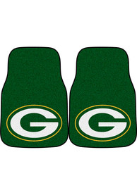 Sports Licensing Solutions Green Bay Packers 2-Piece Carpet Car Mat - Green