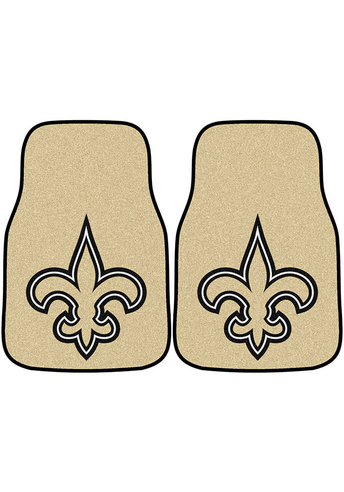 Sports Licensing Solutions New Orleans Saints 2-Piece Carpet Car Mat - Brown - Image 1