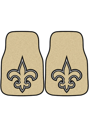 New Orleans Saints 2-Piece Carpet Car Mat