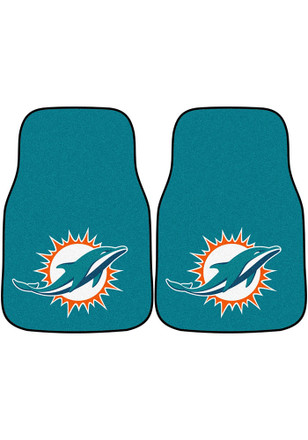 Miami Dolphins 2-Piece Carpet Car Mat