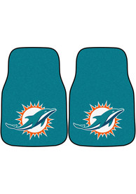 Sports Licensing Solutions Miami Dolphins 2-Piece Carpet Car Mat - Teal