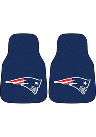 Sports Licensing Solutions New England Patriots 2-Piece Carpet Car Mat - Blue