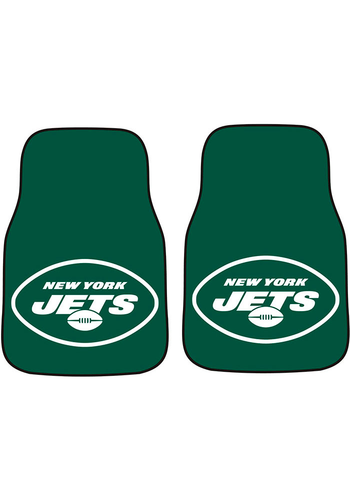 New York Jets 2-Piece Carpet Car Mat - Image 1