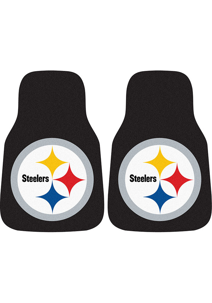 Pittsburgh Steelers 2-Piece Carpet Car Mat - Image 1