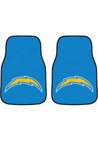 Sports Licensing Solutions Los Angeles Chargers 2-Piece Carpet Car Mat - Blue