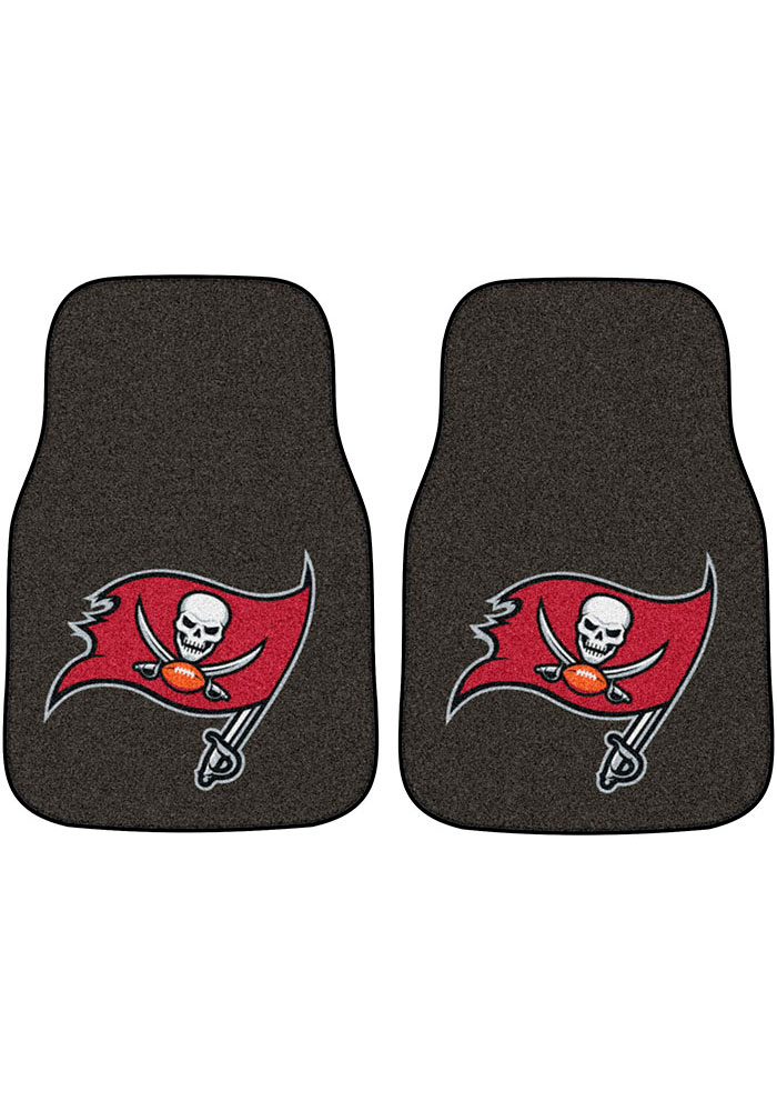 Sports Licensing Solutions Tampa Bay Buccaneers 2-Piece Carpet Car Mat - Grey - Image 1