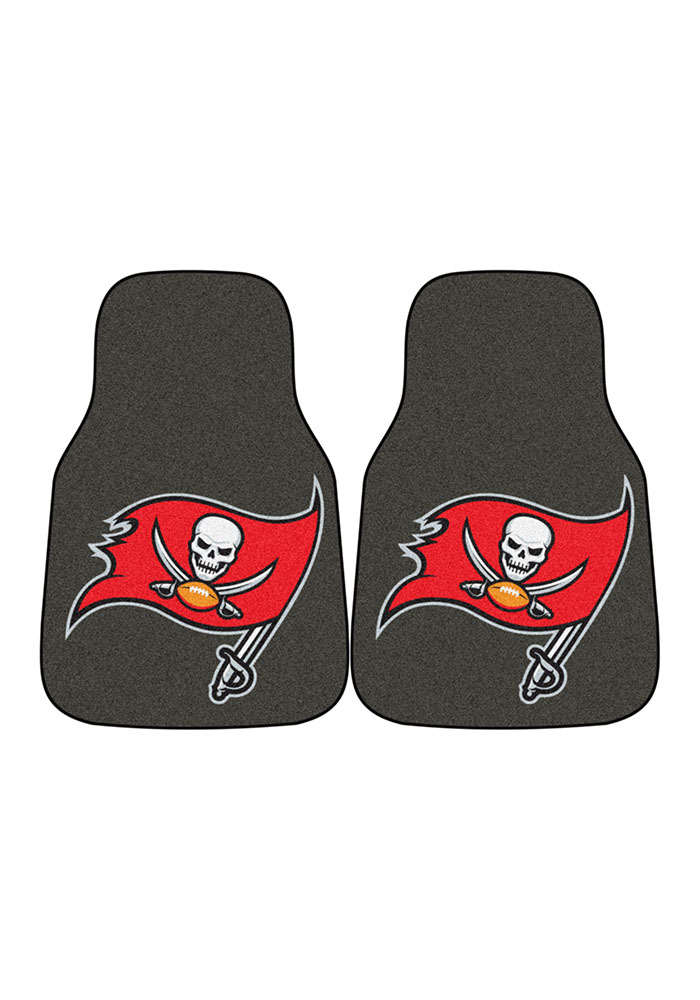 Sports Licensing Solutions Tampa Bay Buccaneers 2-Piece Carpet Car Mat - Grey - Image 2