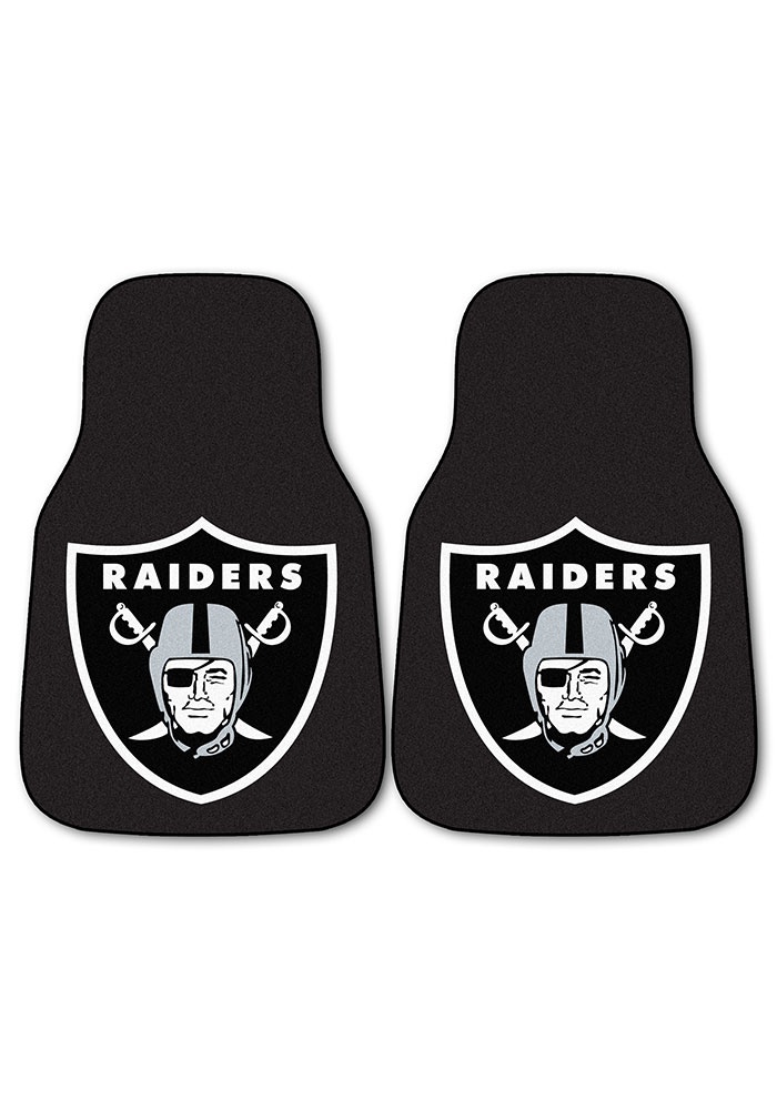 Sports Licensing Solutions Oakland Raiders 2-Piece Carpet Car Mat - Black - Image 2