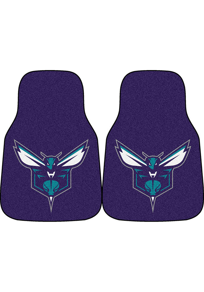 Charlotte Hornets 2-Piece Carpet Car Mat - Image 1