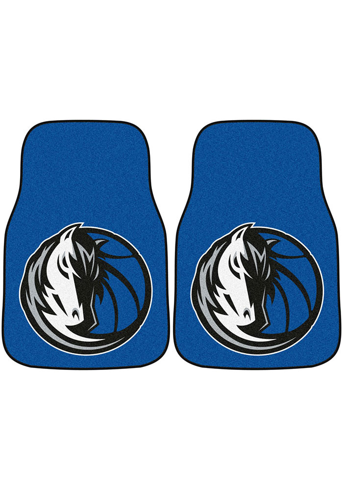 Dallas Mavericks 2-Piece Carpet Car Mat - Image 1