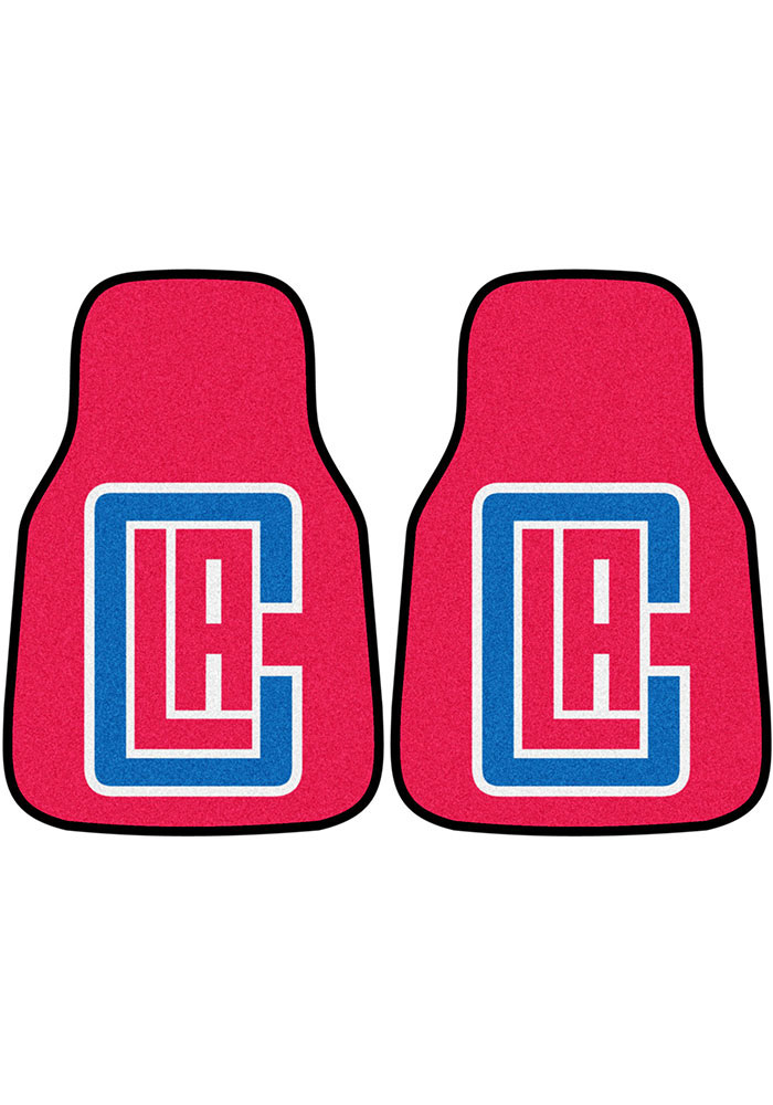Los Angeles Clippers 2-Piece Carpet Car Mat - Image 1