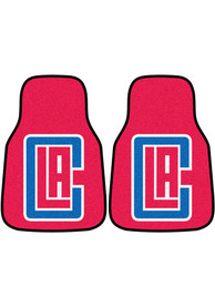Sports Licensing Solutions Los Angeles Clippers 2-Piece Carpet Car Mat - Navy Blue