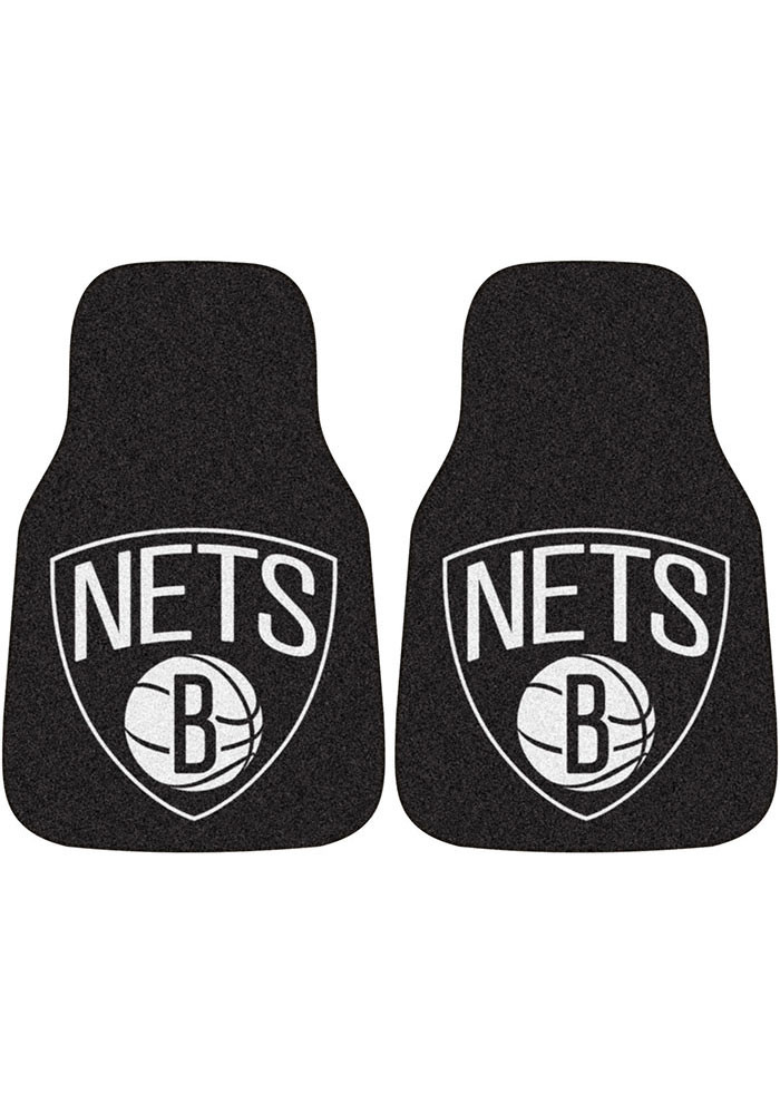 Brooklyn Nets 2-Piece Carpet Car Mat - Image 1