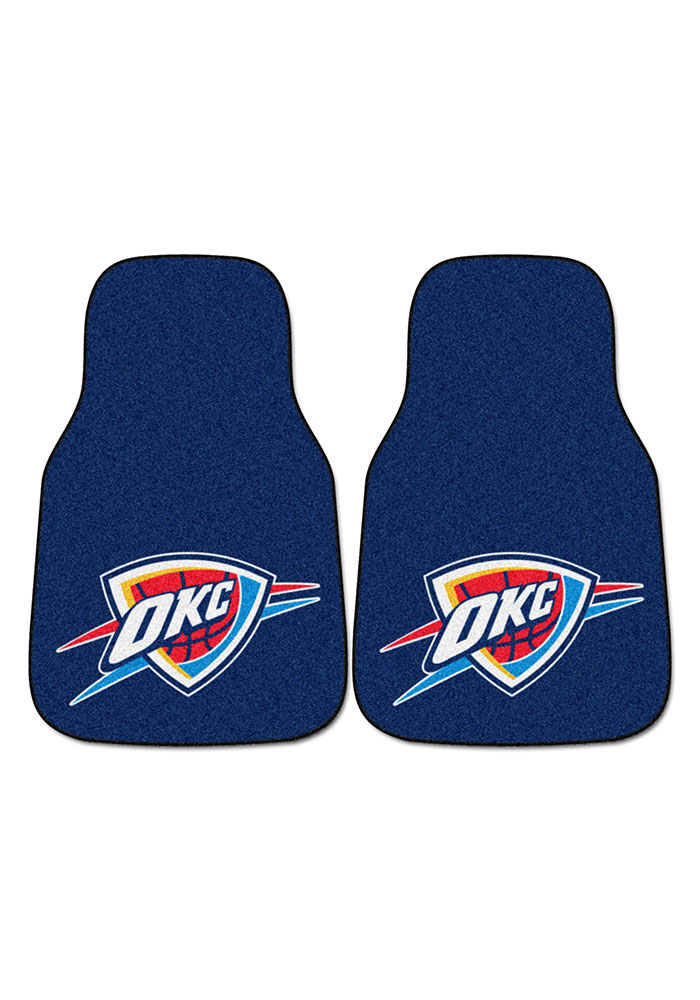 Sports Licensing Solutions Oklahoma City Thunder 2-Piece Carpet Car Mat - Navy Blue - Image 2