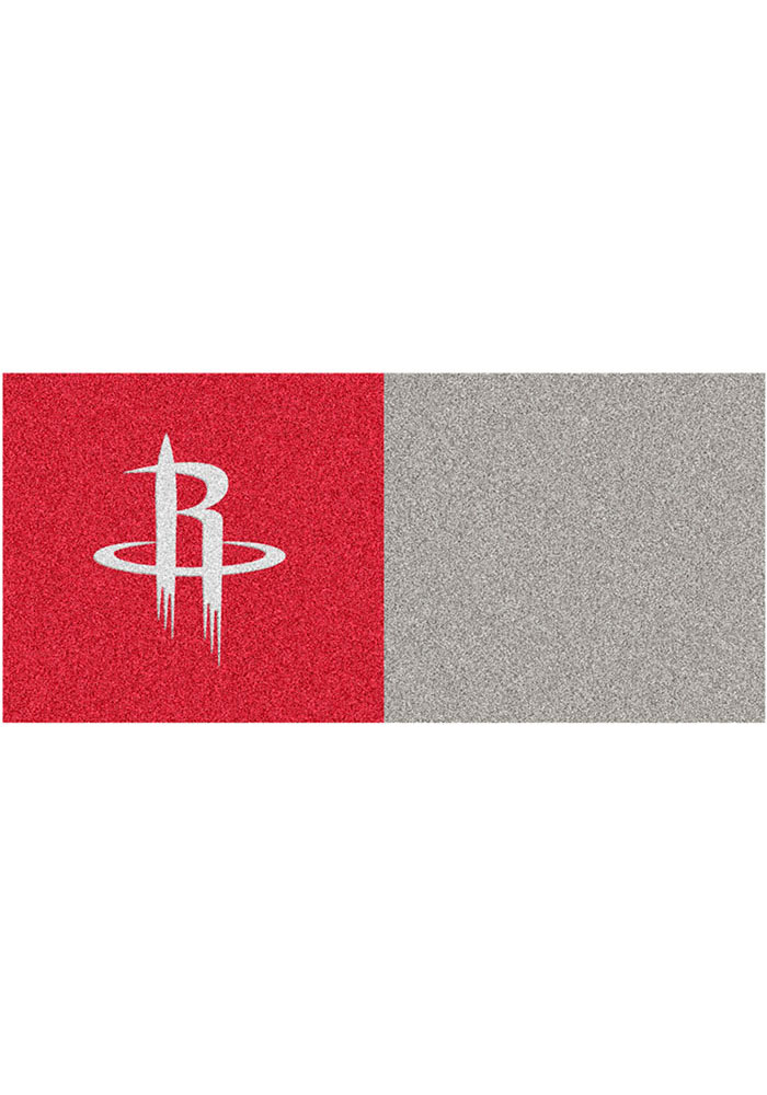 Houston Rockets 18x18 Team Tiles Interior Rug - Image 1