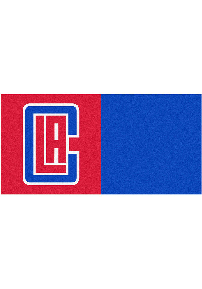 Los Angeles Clippers 18x18 Team Tiles Interior Rug - Image 1