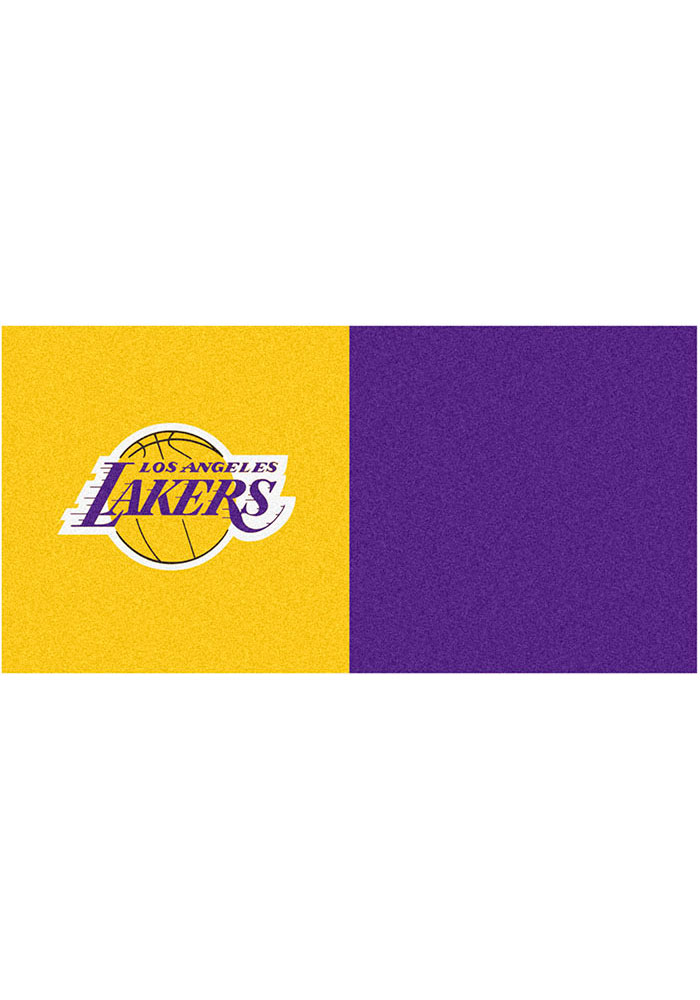 Los Angeles Lakers 18x18 Team Tiles Interior Rug - Image 1