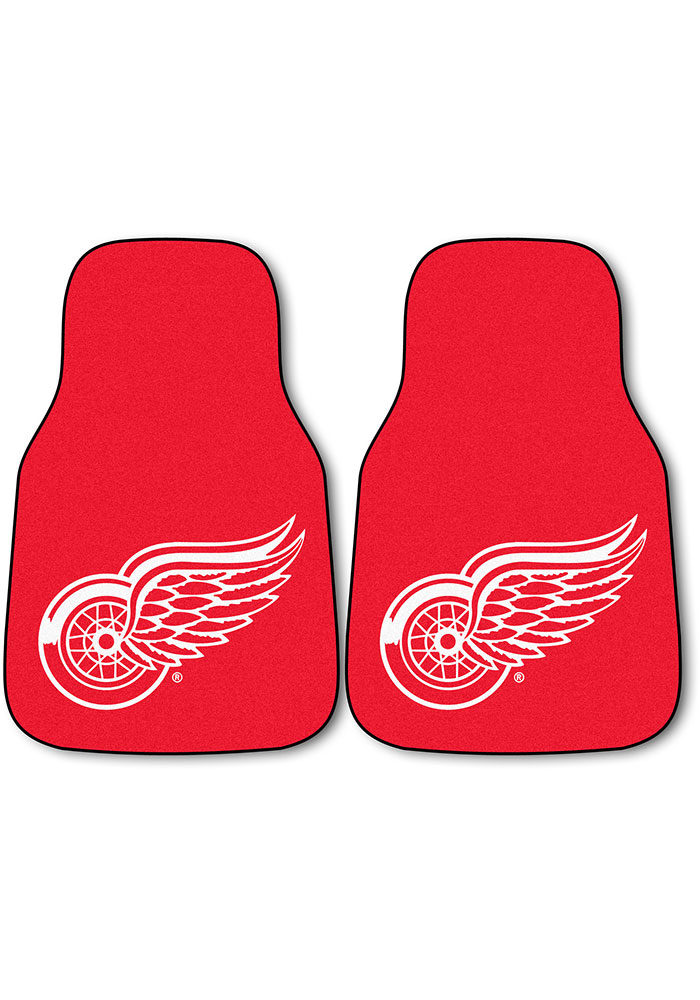 Sports Licensing Solutions Detroit Red Wings 2-Piece Carpet Car Mat - Red - Image 1