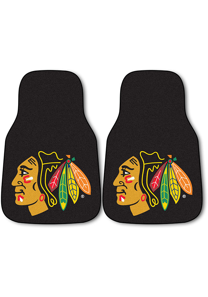 Chicago Blackhawks 2pk Carpet Car Mat - Image 1