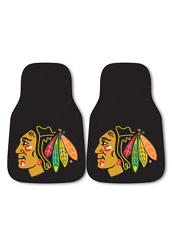 Chicago Blackhawks 2pk Carpet Car Mat - Image 2