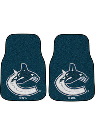 Sports Licensing Solutions Vancouver Canucks 2-Piece Carpet Car Mat - Blue