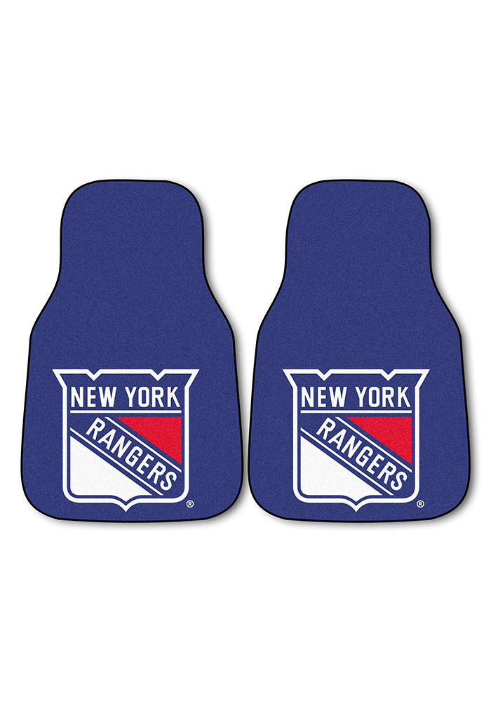 New York Rangers 2-Piece Carpet Car Mat - Image 2