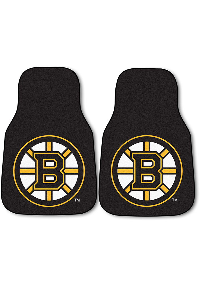 Boston Bruins 2-Piece Carpet Car Mat - Image 1
