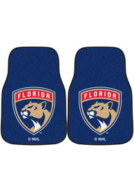 Sports Licensing Solutions Florida Panthers 2-Piece Carpet Car Mat - Blue