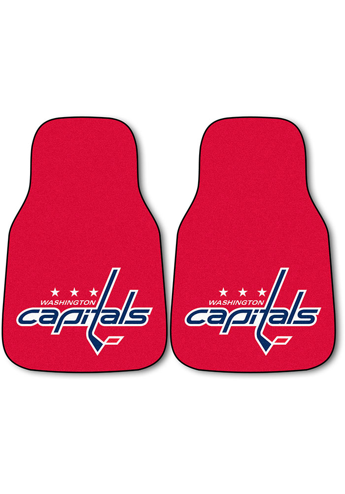 Sports Licensing Solutions Washington Capitals 2-Piece Carpet Car Mat - Red - Image 1