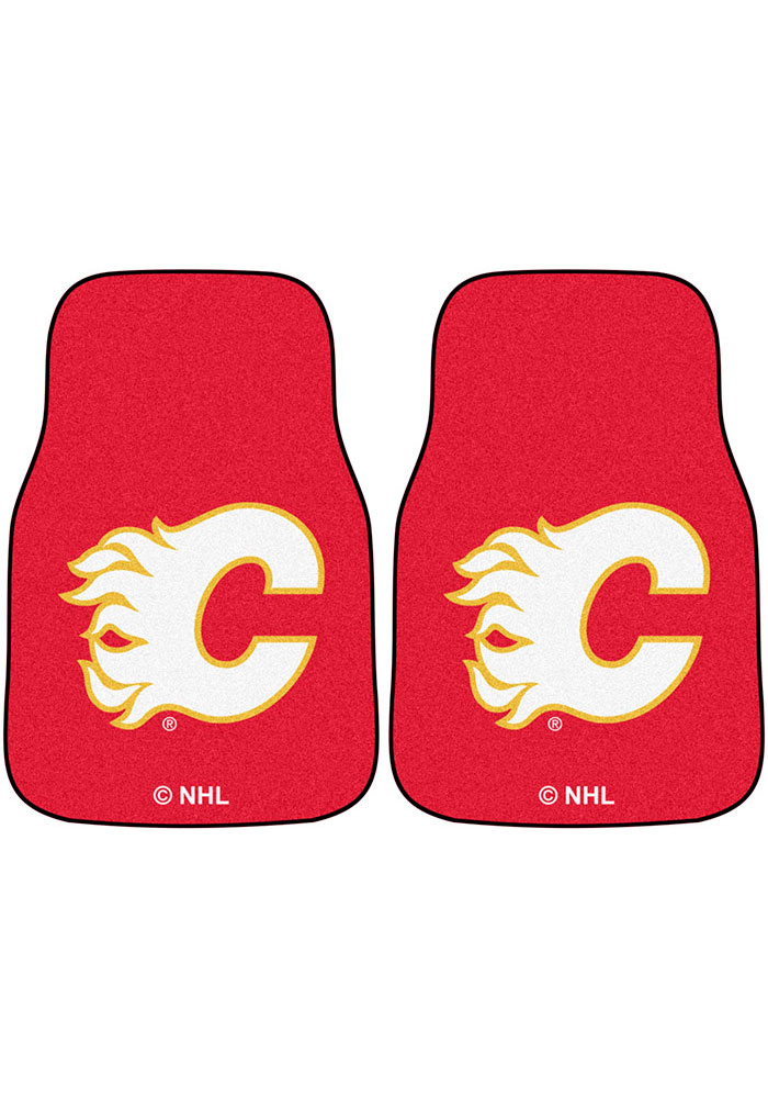 Sports Licensing Solutions Calgary Flames 2-Piece Carpet Car Mat - Red - Image 1