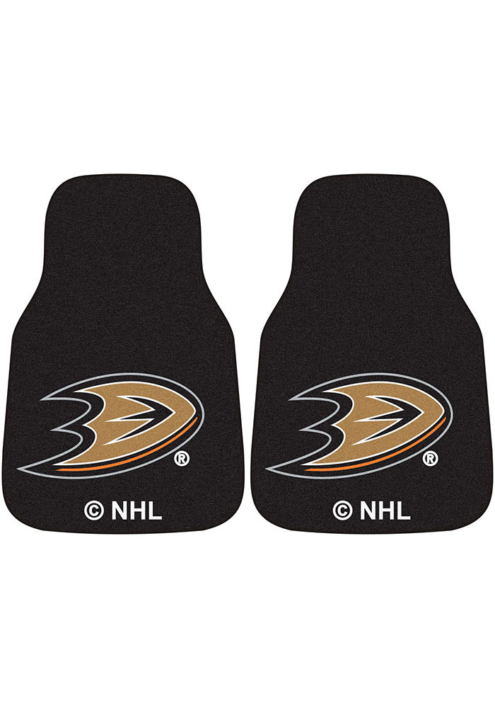 Sports Licensing Solutions Anaheim Ducks 2-Piece Carpet Car Mat - Black - Image 1